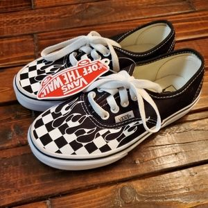 NWT checkered flame VANS